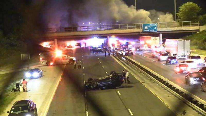2 dead, several injured in Bishop Ford Freeway crash