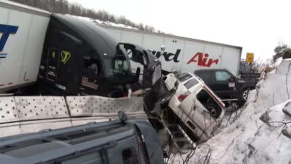 "<div class=""meta image-caption""><div class=""origin-logo origin-image none""><span>none</span></div><span class=""caption-text"">23 vehicles were involved in a chain reaction accident Wednesday morning in the Orange County town of Greenville.</span></div>"