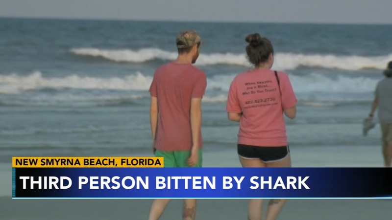 3 people bitten by shark in one weekend in New Smyrna, Florida