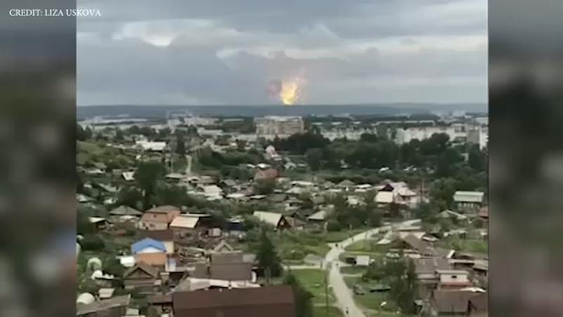 Russia Explosion Blast At Russian Ammunition Dump Injures 4 Abc7 Los Angeles