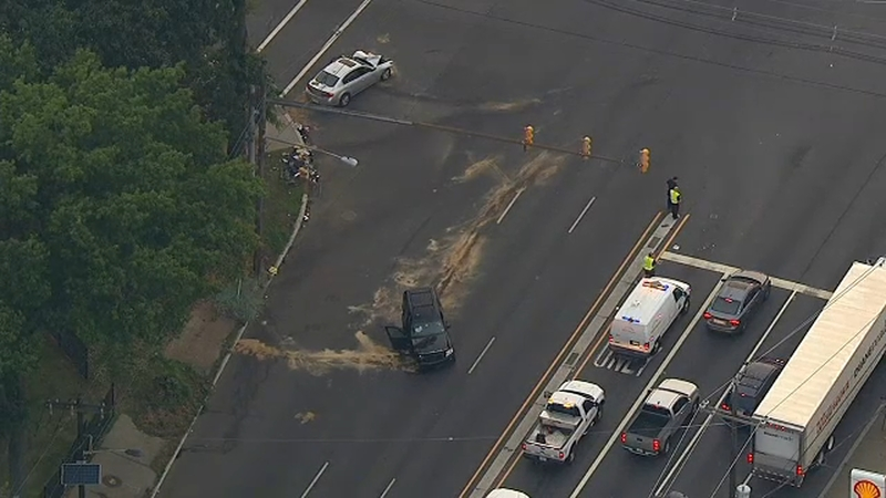 Crash shuts down part of Routes 1 and 9 in NJ