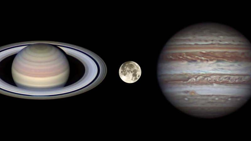 Saturn, Jupiter to align with moon this weekend