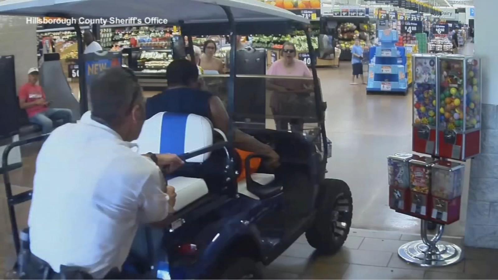 Police: Florida man drives golf cart into Walmart, attempts