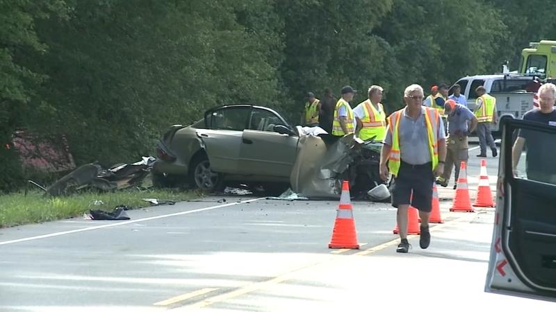 Serious crash involving car, dump truck on NC 54