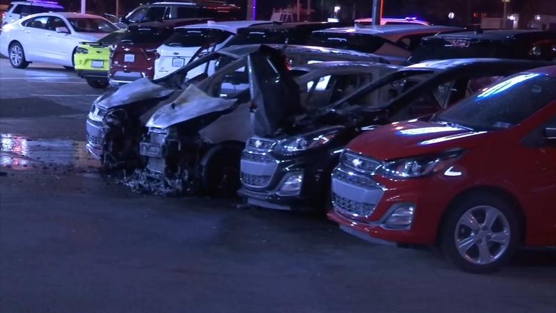 Cars torched at NE Philadelphia dealership