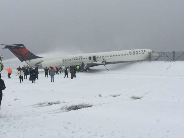 "<div class=""meta image-caption""><div class=""origin-logo origin-image none""><span>none</span></div><span class=""caption-text"">Viewer photo of a Delta plane that skidded off a runway at LaGuardia Airport (Photo by @SteveBlaze98 via Twitter)</span></div>"