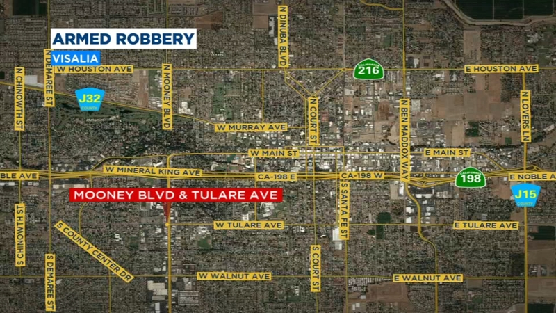 Police searching for armed robbery suspect in Visalia