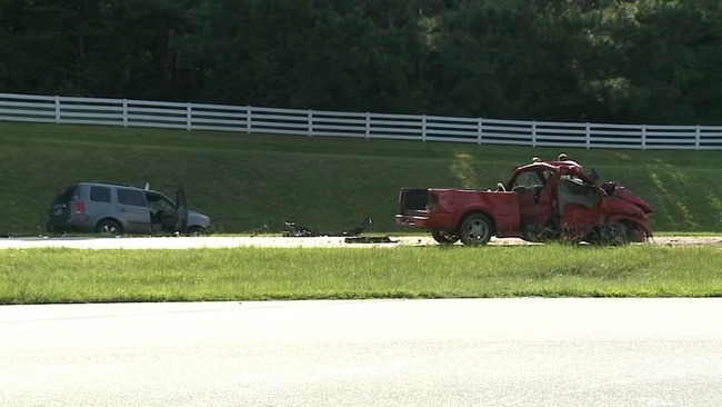 Dump truck, car, involved in 'bad accident' on NC 54 | abc11 com