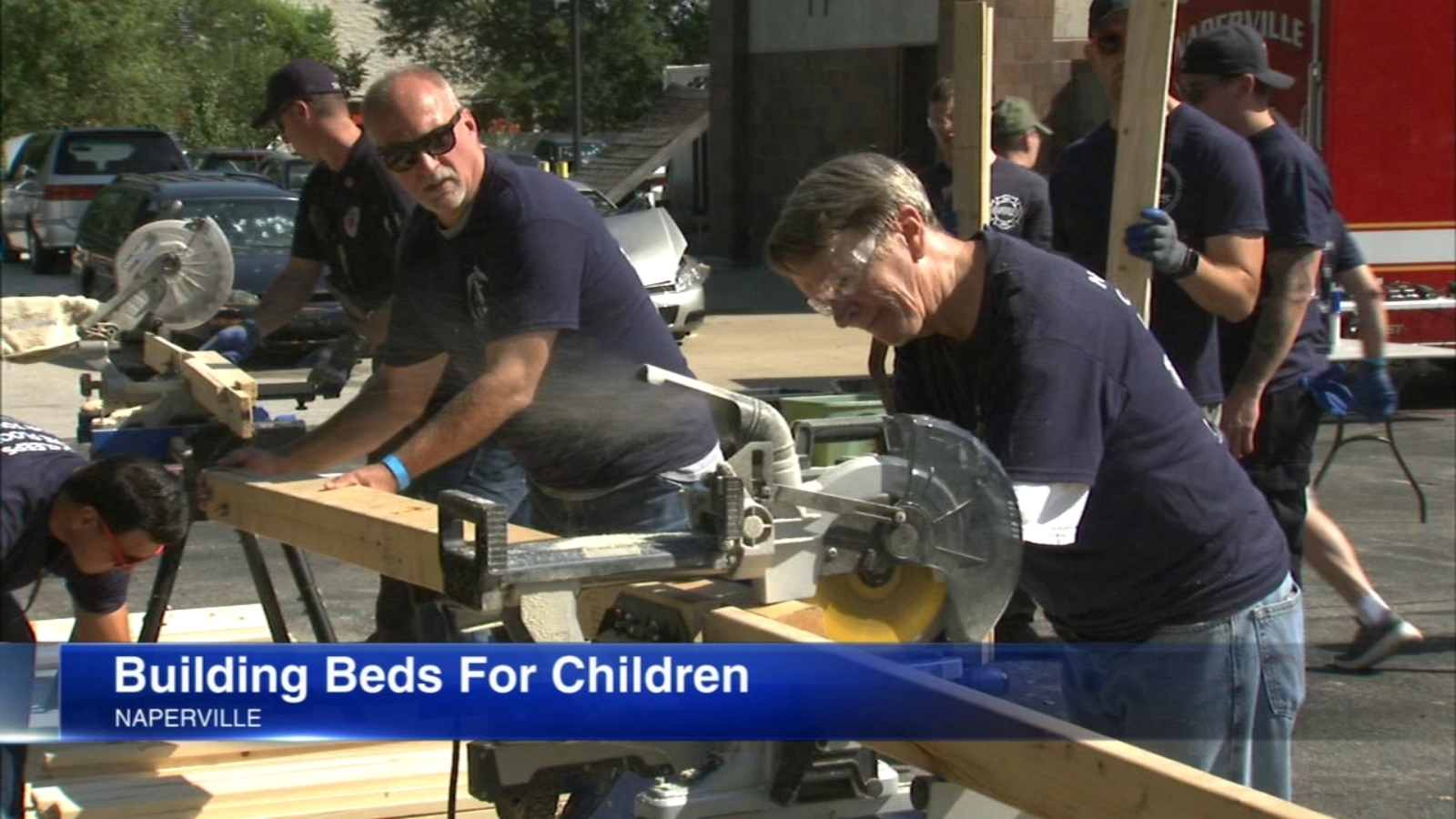 Naperville Fire Department helps nonprofit 'Sleep in Heavenly Peace' build beds for kids in need