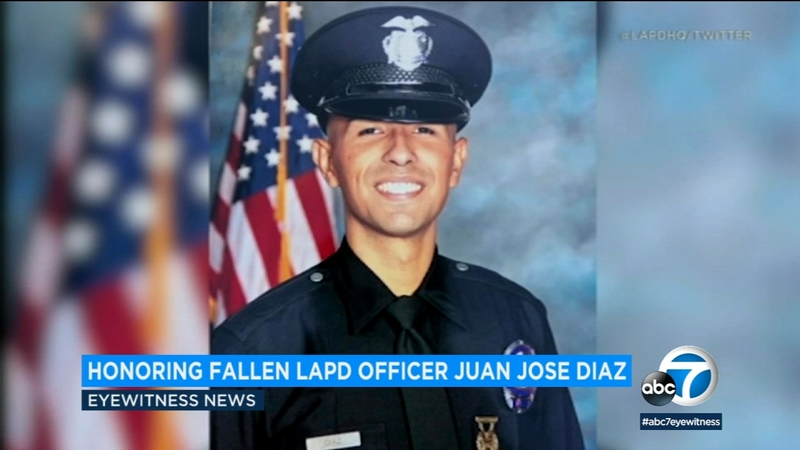 Family, friends honor LAPD officer killed in Lincoln Heights