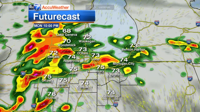 Chicago AccuWeather: Heavy rain, strong thunderstorms | abc7chicago com