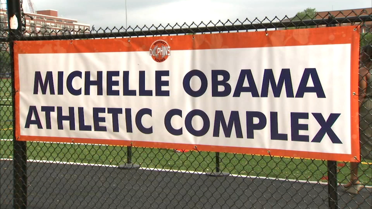 Michelle Obama Athletic Complex opens at Whitney Young High School