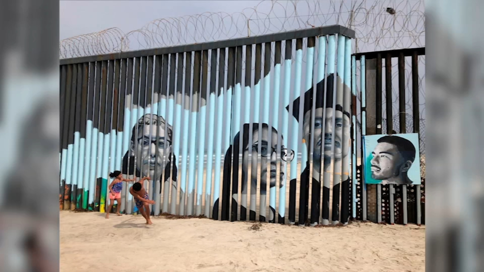 Fresno State grad putting a face to immigration by painting mural at US-Mexico border