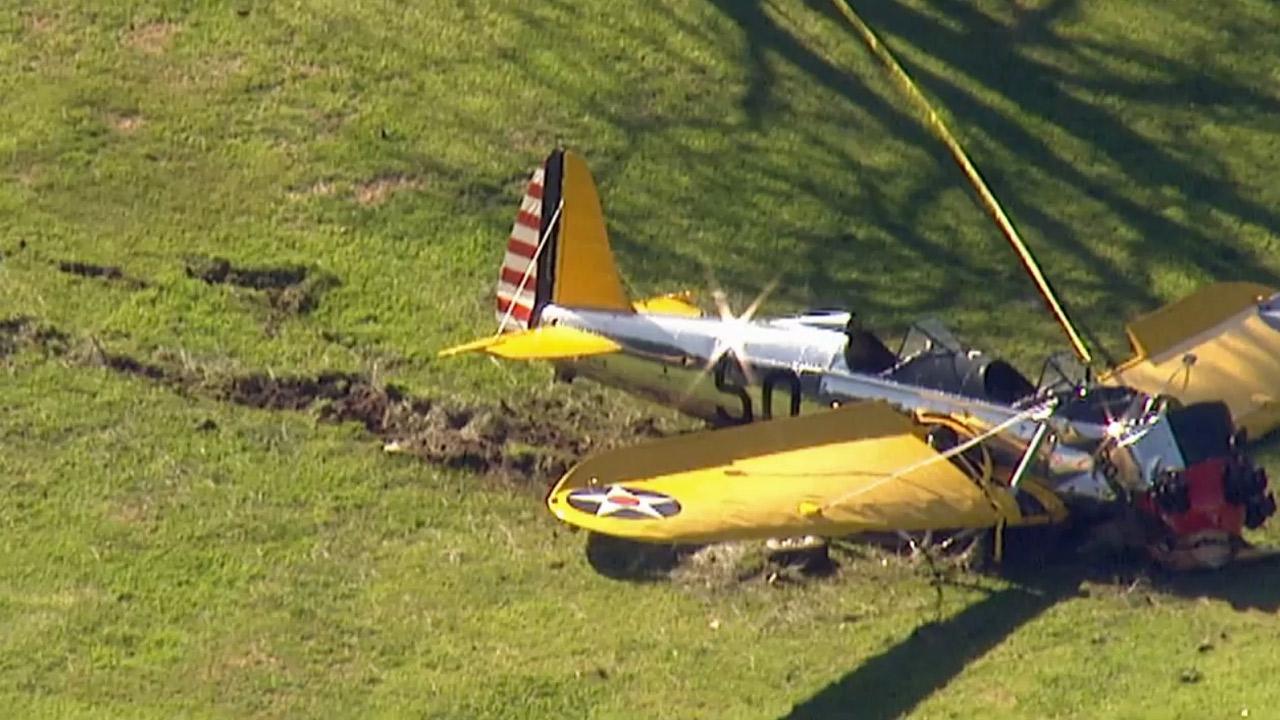 PHOTOS: Harrison Ford injured in Venice plane crash - ABC7