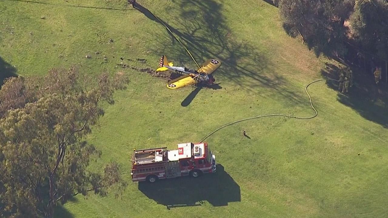 Harrison Ford injured in vintage plane crash in Los Angeles