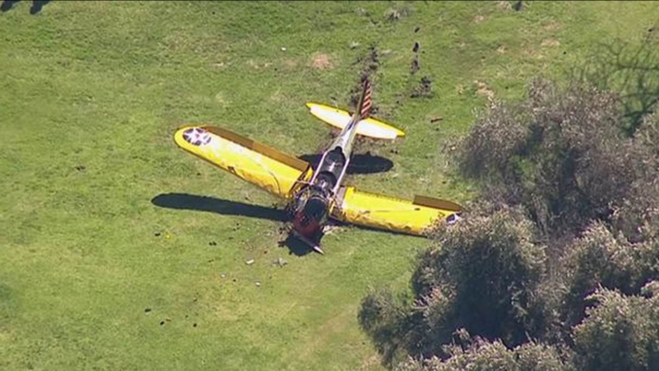Harrison Ford's plane crashed on golf course