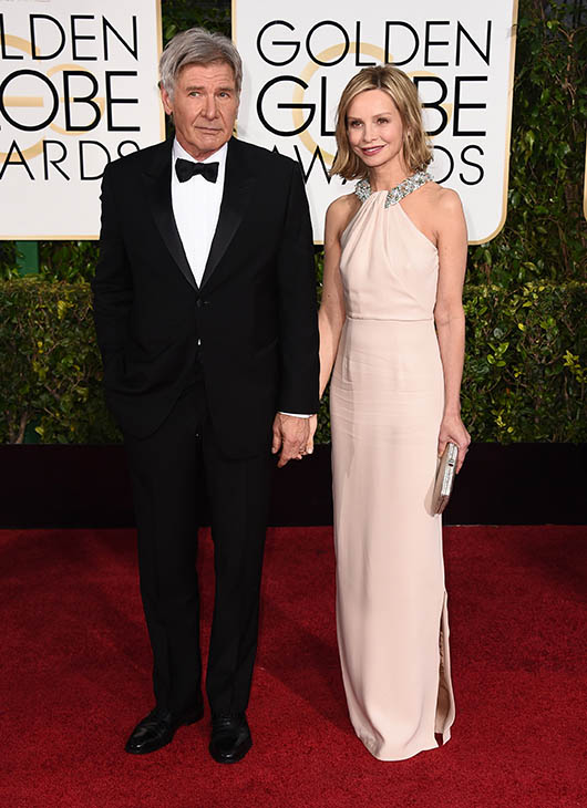 "<div class=""meta image-caption""><div class=""origin-logo origin-image ap""><span>AP</span></div><span class=""caption-text"">Harrison Ford, left, and Calista Flockhart arrive at the 72nd annual Golden Globe Awards at the Beverly Hilton Hotel on Sunday, Jan. 11, 2015, in Beverly Hills, Calif.</span></div>"