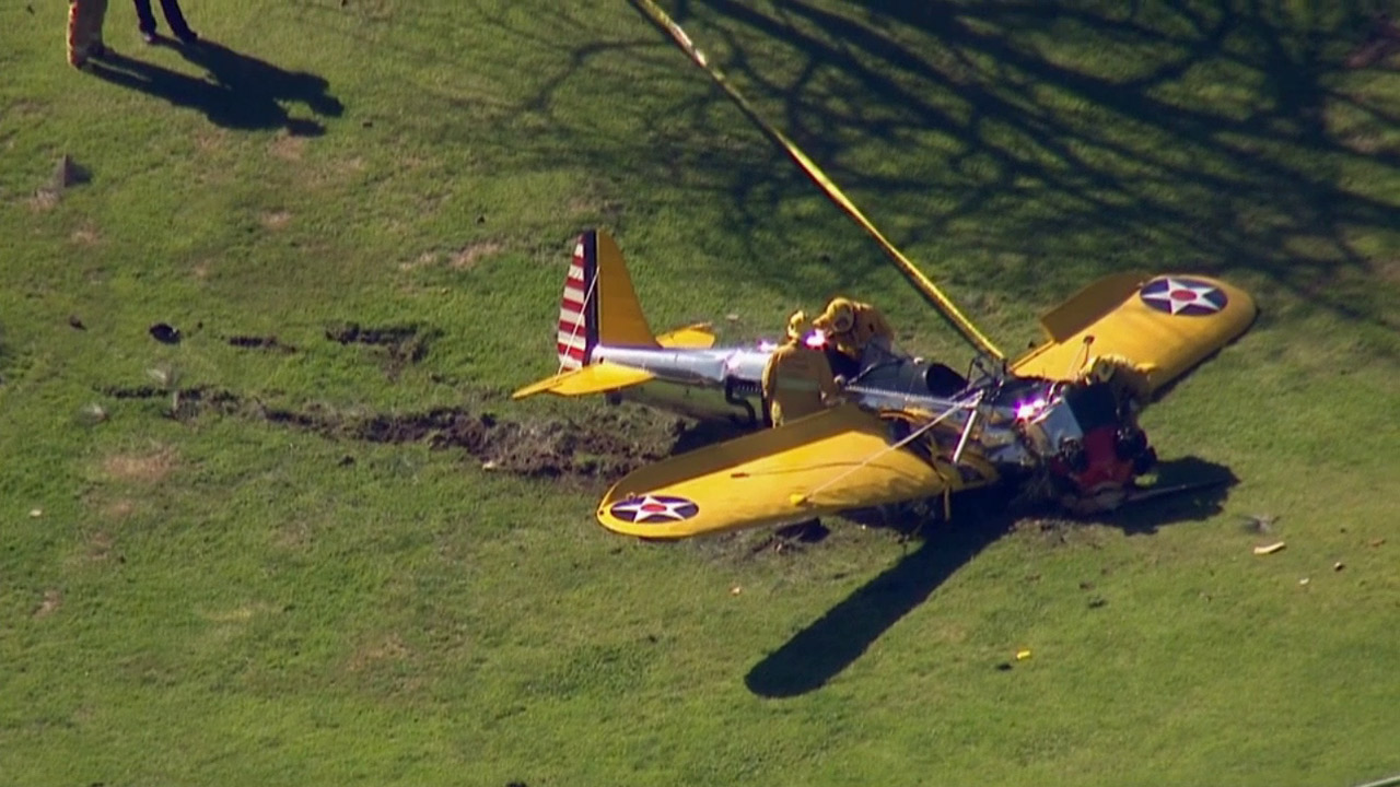 Small plane makes emergency landing, crashes into pond at