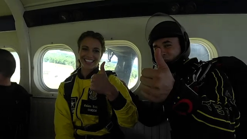 Cheryl Scott skydives with U S  Army Golden Knights