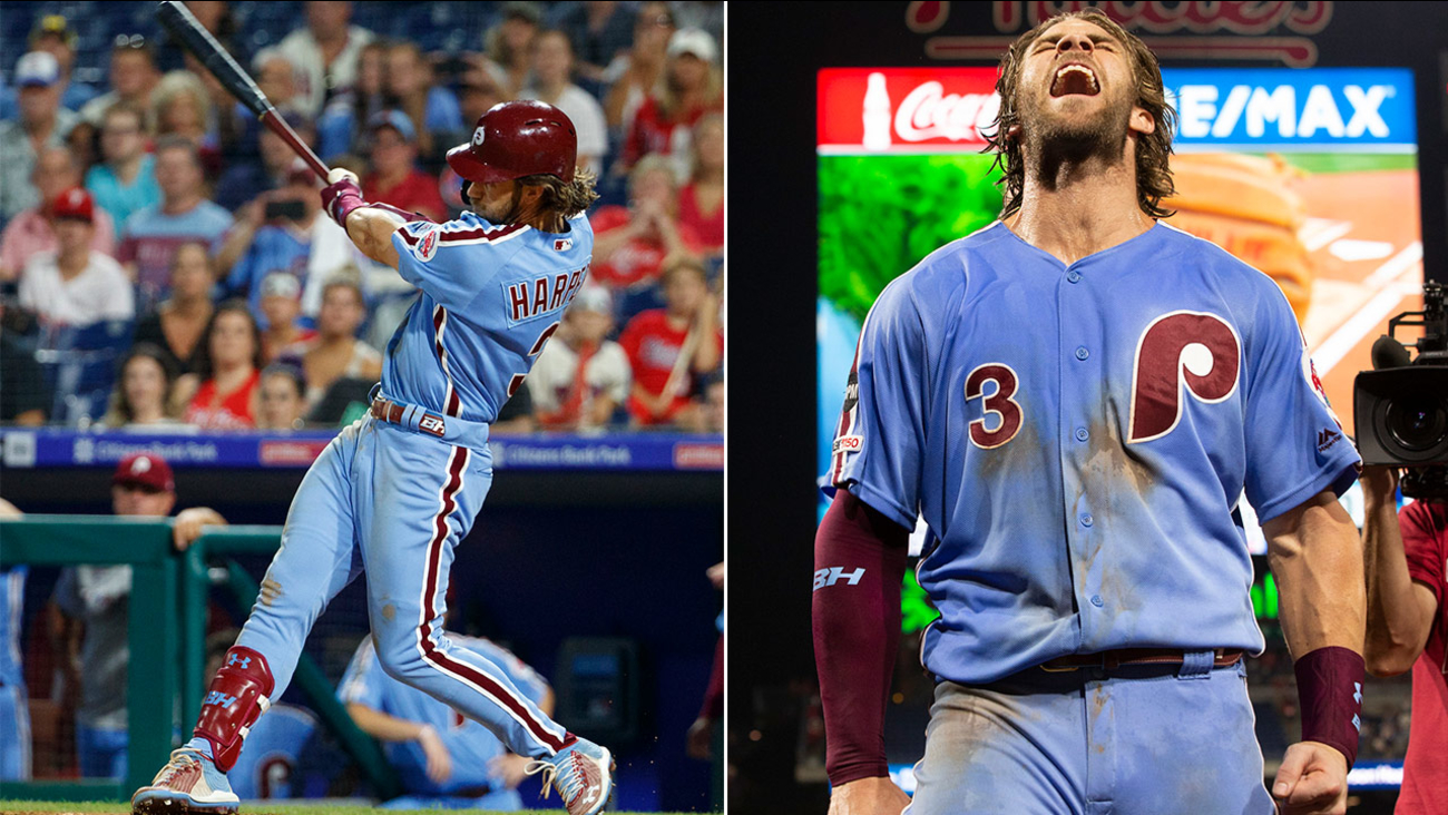 online store 636ce 1b106 Phillies vs. Cubs: Watch multiple versions of Bryce Harper's ...