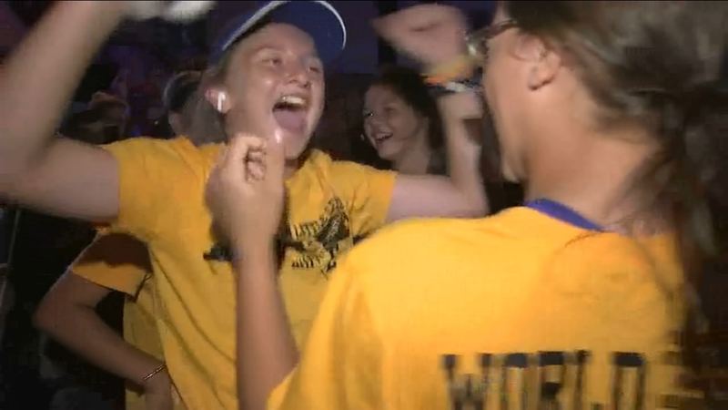 Fans cheer as best softball team in America returns home to NC