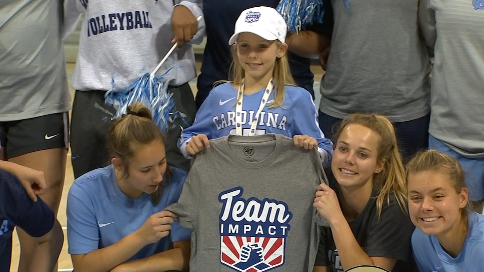 UNC volleyball makes it a special day for Pittsboro girl with cystic fibrosis