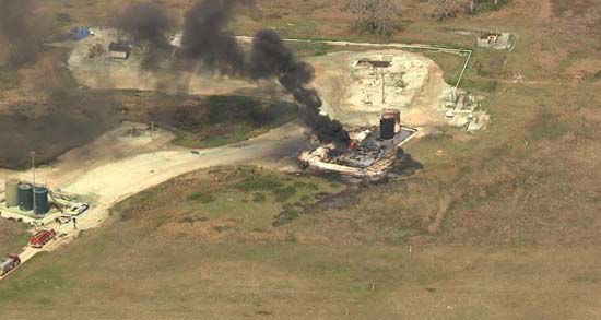 "<div class=""meta image-caption""><div class=""origin-logo origin-image none""><span>none</span></div><span class=""caption-text"">An oil tank exploded and caught fire near Egypt, TX, in Wharton County. There's no word on a cause of the explosion. (KTRK Photo/ SkyEyeHD)</span></div>"