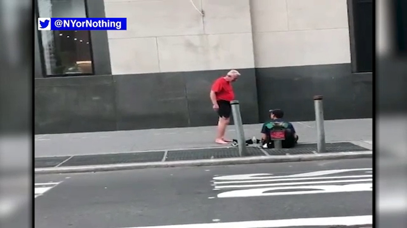 Be Kind: Jogger gives homeless man shoes off his feet in Lower Manhattan