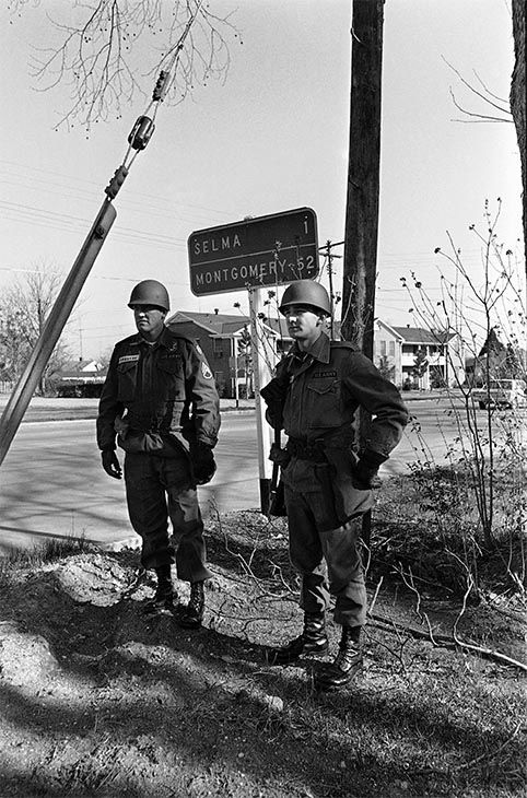 "<div class=""meta image-caption""><div class=""origin-logo origin-image none""><span>none</span></div><span class=""caption-text"">March 20: President Lyndon B. Johnson called in National Guardsmen to protect marchers planning to march from Selma, Ala. to the state capitol at Montgomery. (Photo/AP Photo)</span></div>"