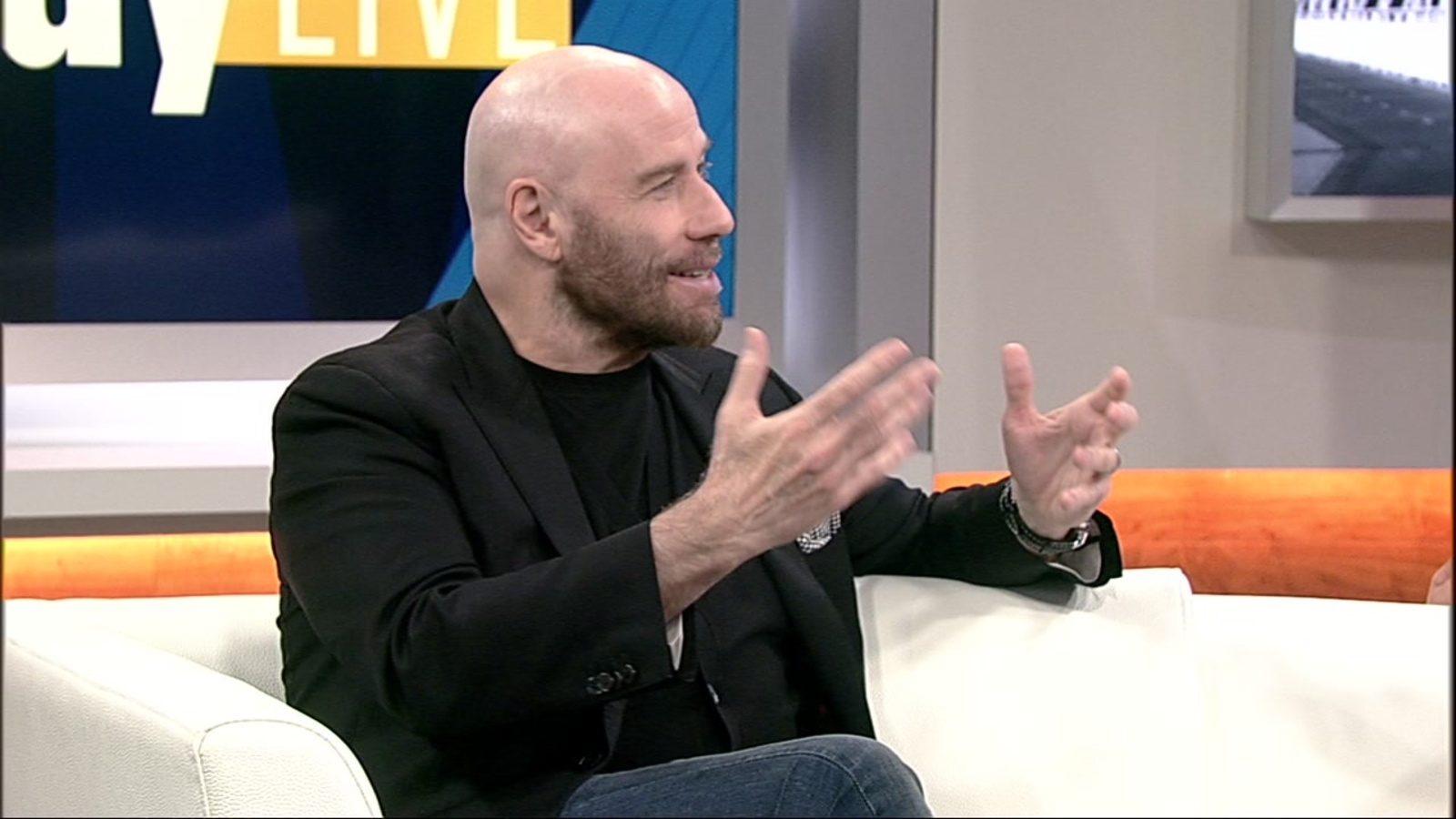 Actor John Travolta appears on ABC7's 'Midday Live'
