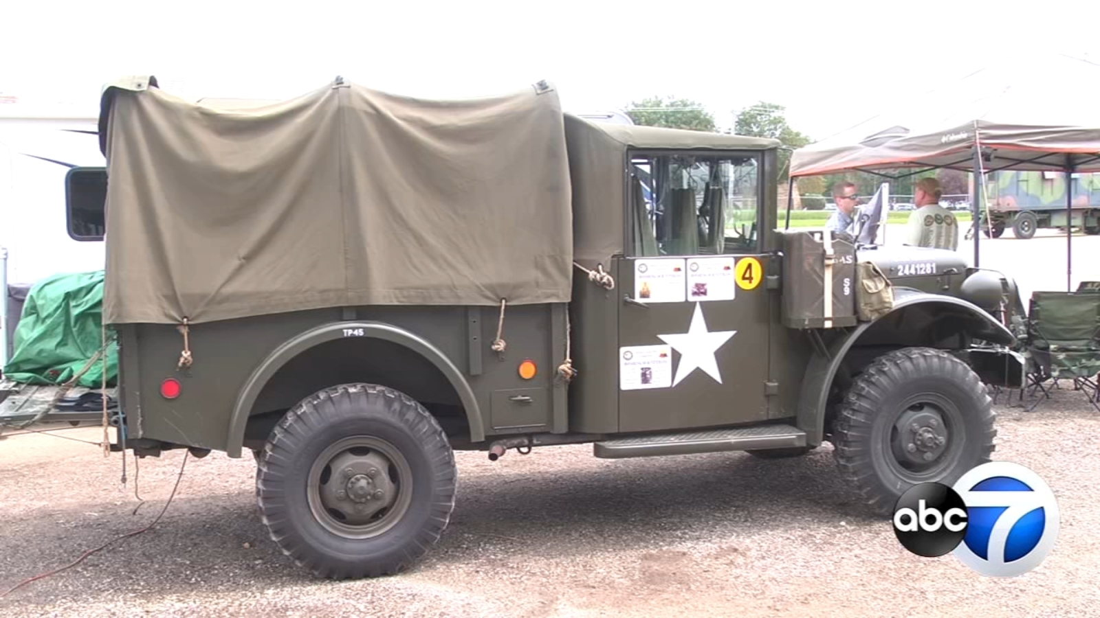 Dozens of vintage military vehicles traveling cross-country