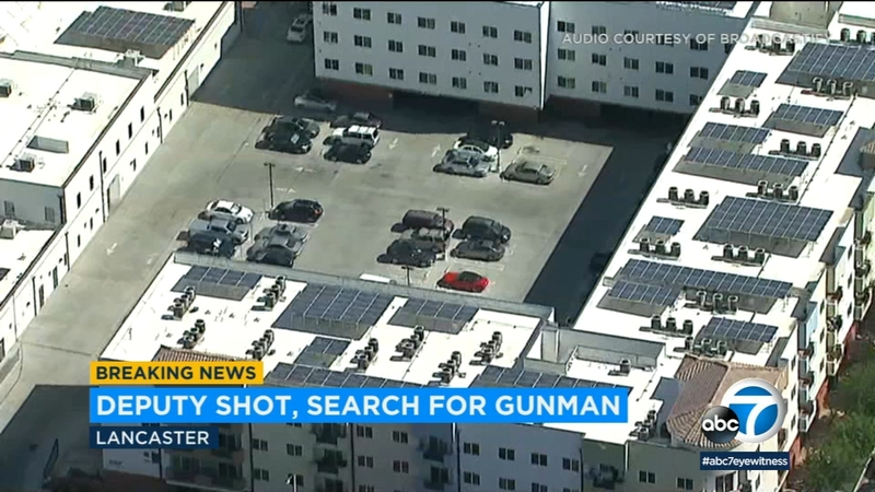 Gunman still on loose after sheriff's deputy wounded in