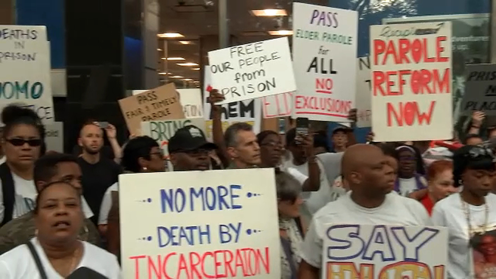 Rally held to push for bill giving elderly inmates a chance for parole