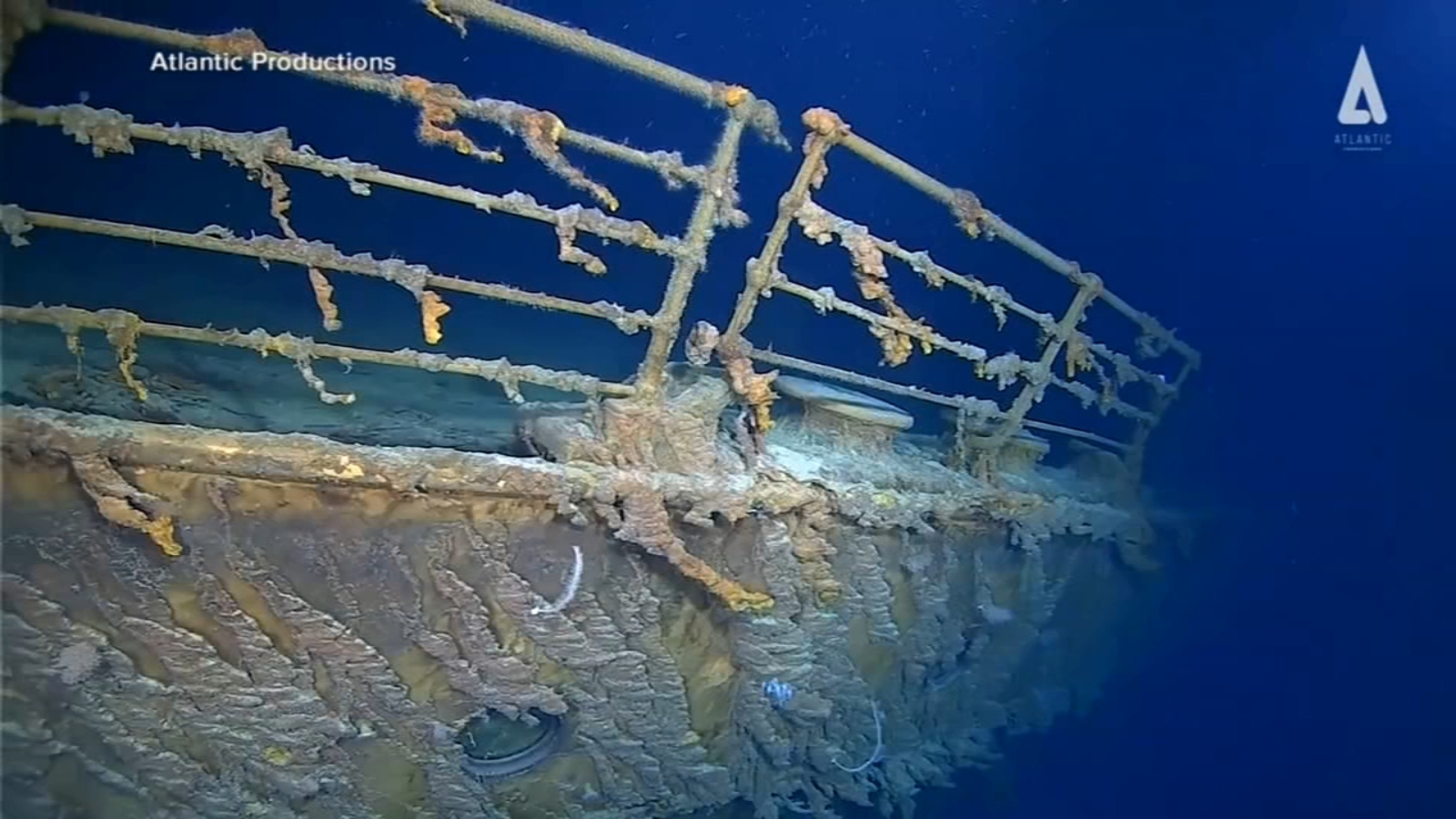 Newly captured video details deterioration of Titanic wreckage