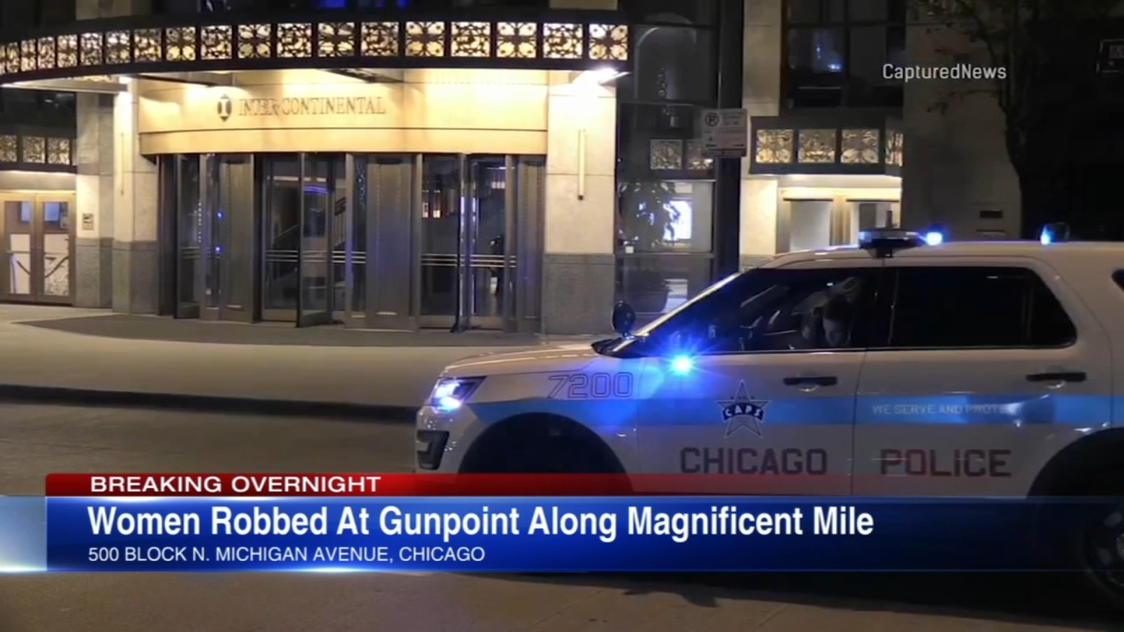 2 women robbed at gunpoint by woman outside Intercontinental Hotel on Magnificent Mile