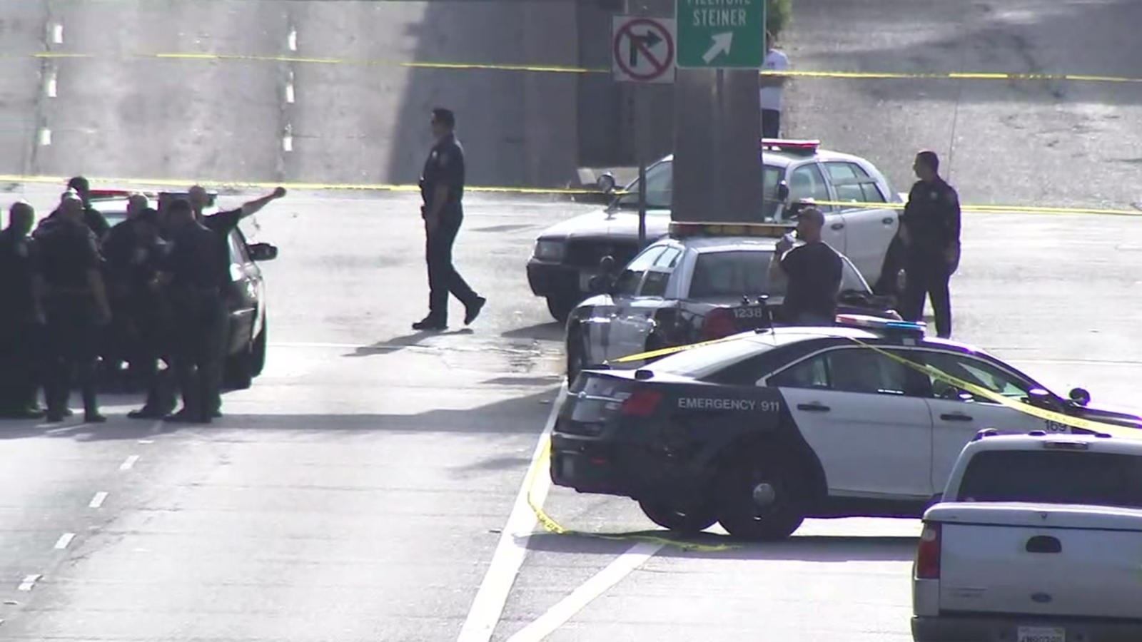 SFPD officer OK after collision involving possible burglary suspect, heavy traffic near Japantown