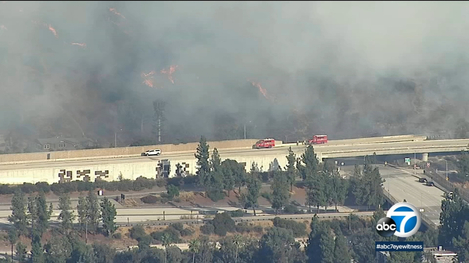 Eagle Rock Fire Northbound 2 Freeway Reopened After 30