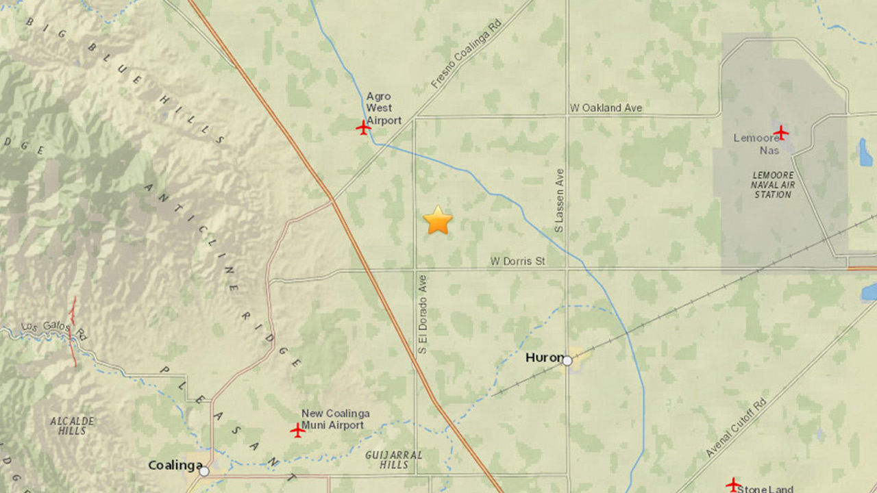 A magnitude-2.5 earthquake struck near Huron on Saturday, March 7, 2015.