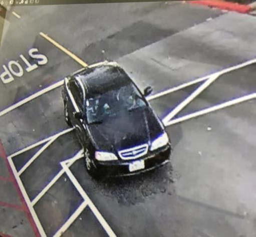 Surveillance footage shows a car belonging to three suspects in a jewelry store robbery at the Great Mall in Milpitas, Calif. on Aug. 25, 2019.