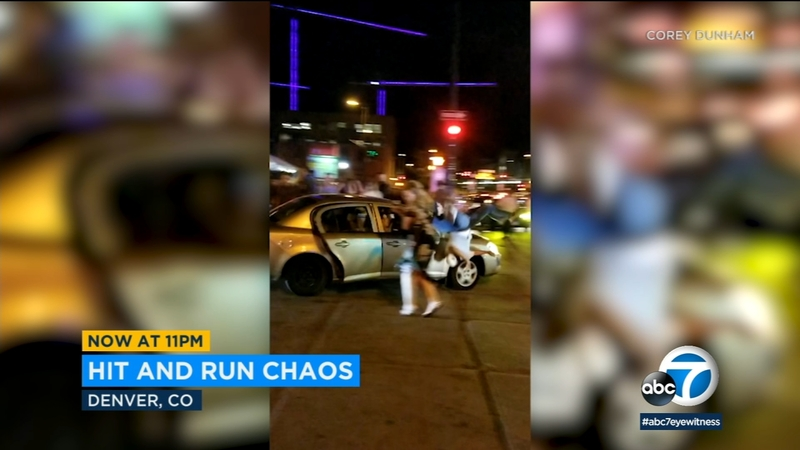 VIDEO: Hit-and-run driver strikes 2 people outside Denver nightclub