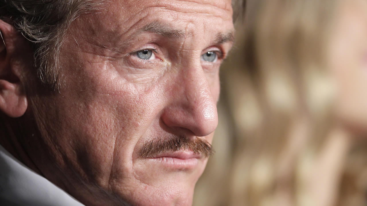 Actor Sean Penn looks on during a press conference for the Haiti Carnival charity event in Cannes, southern France, May 18, 2012. (AP Photo/Francois Mori)
