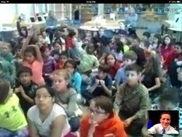 "<div class=""meta image-caption""><div class=""origin-logo origin-image none""><span>none</span></div><span class=""caption-text"">Travis Herzog spoke with the third graders at Meadow Wood Elementary via Skype (KTRK Photo)</span></div>"
