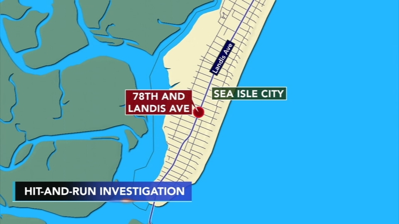 Pedestrian hurt after hit-and-run accident in Sea Isle City: Police