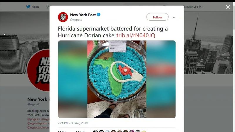 Store gets backlash over Hurricane Dorian-themed cakes