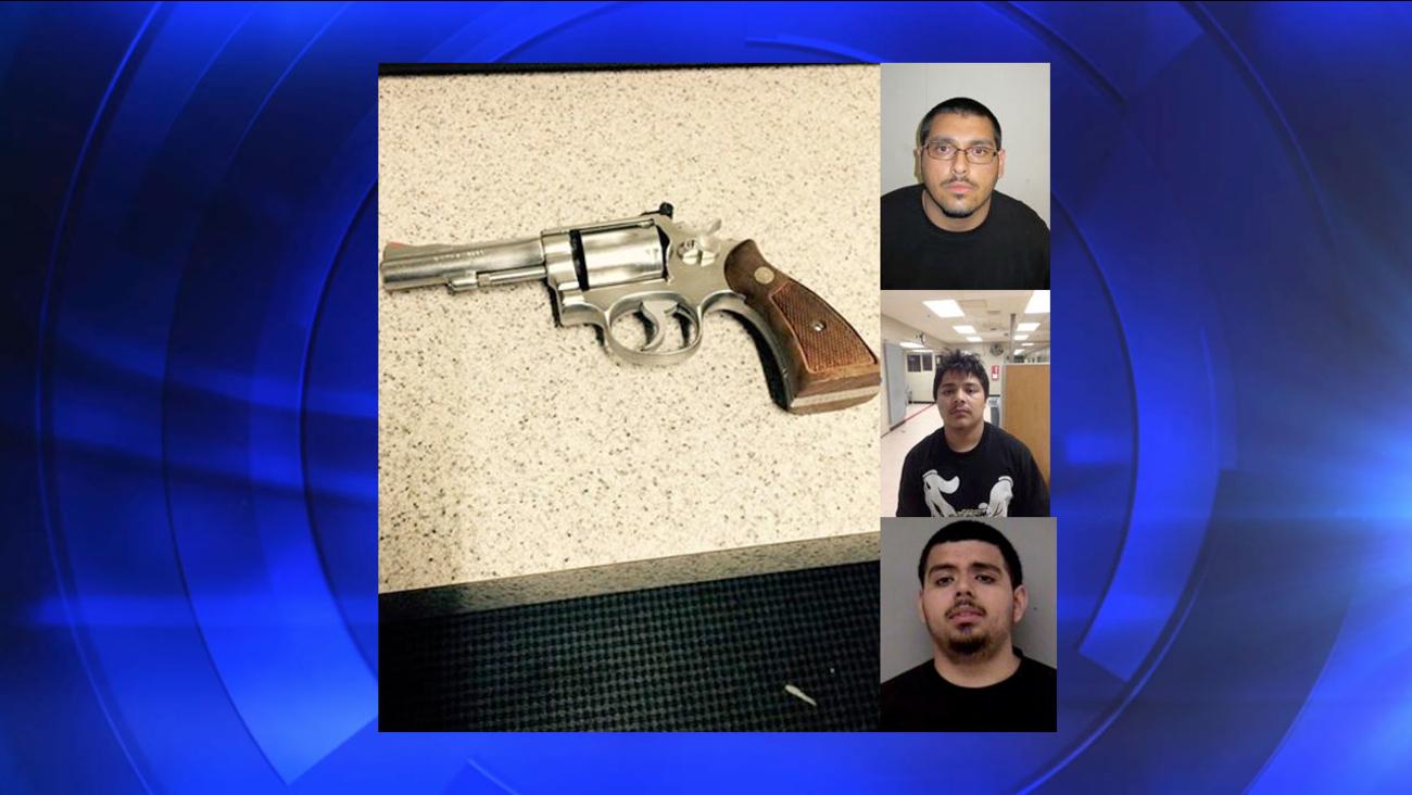 Lawnmower theft suspects: Alan Ochoa (Top), Cesar Cruz (Middle) and Jonathan Victorino (Bottom)