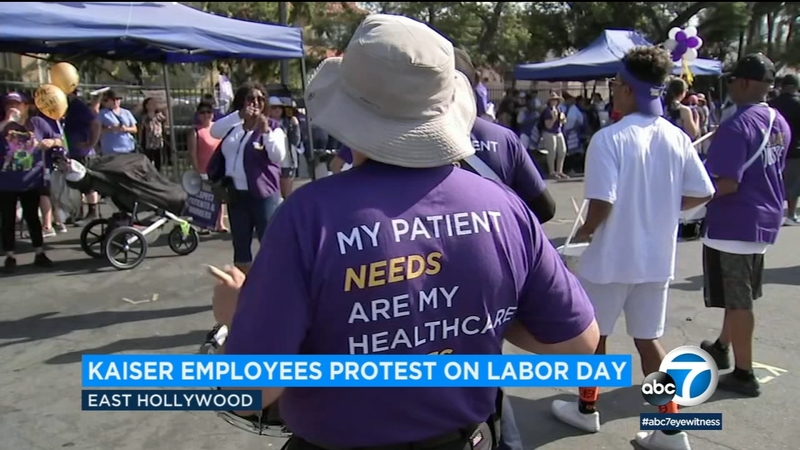 Kaiser employees protest against working conditions