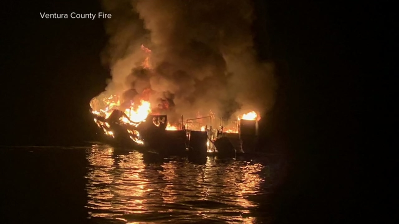 Dive boat fire: All 6 crewmembers were asleep when blaze erupted, NTSB says