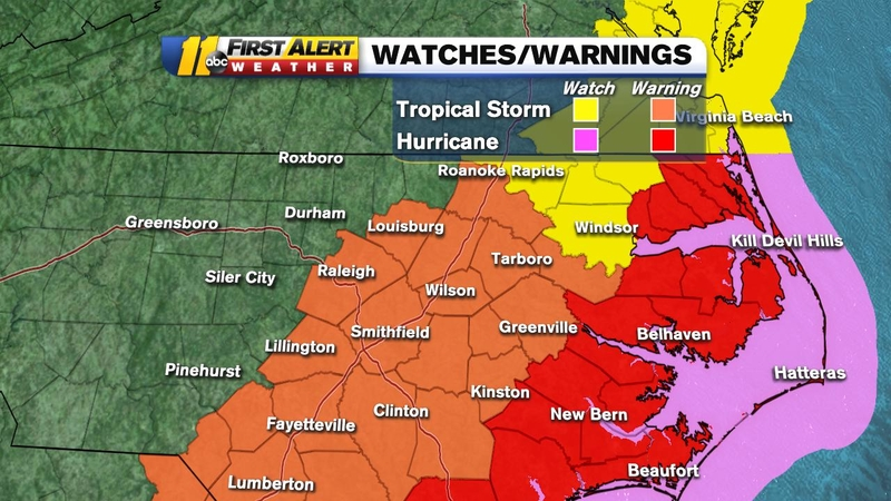 Hurricane Dorian NC: Tropical Storm Warning extended to Raleigh as storm  tracks toward North Carolina coast