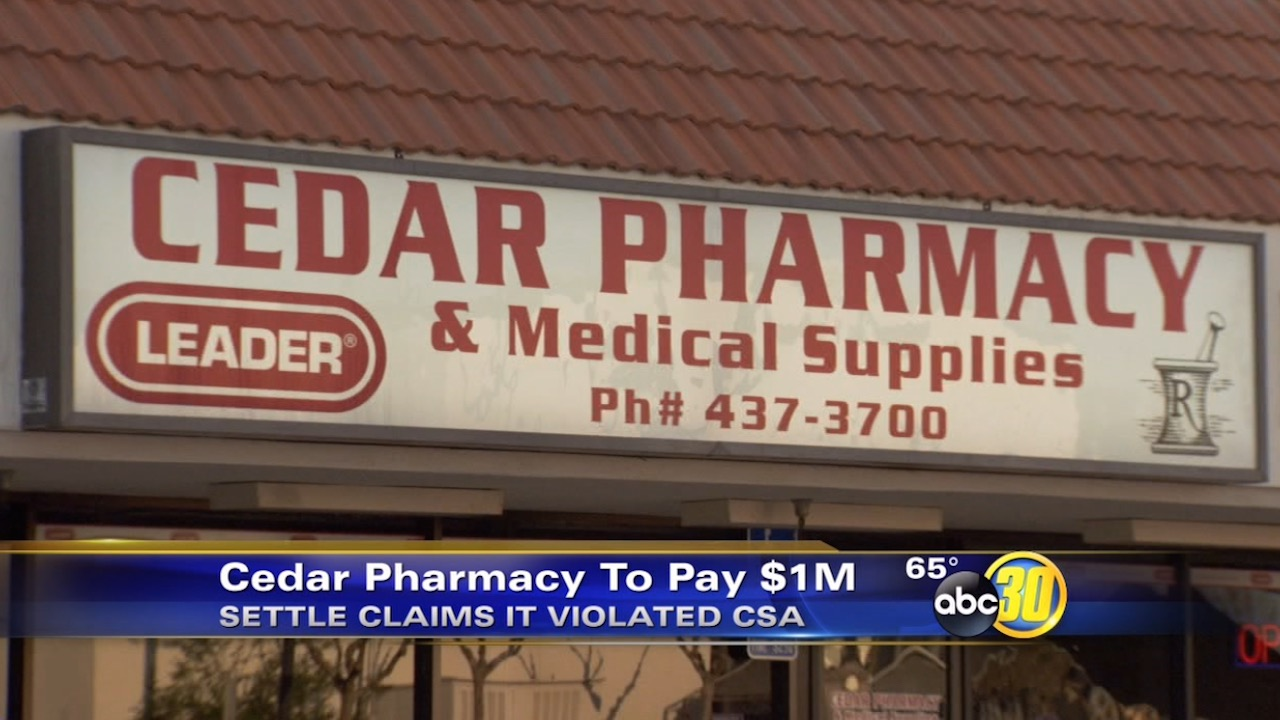 Cedar Pharmacy to pay $1 million in controlled substance claim