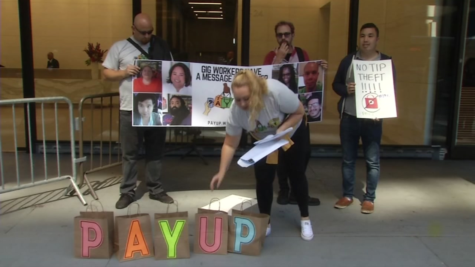 Delivery App drivers rally for higher wages at SF headquarters